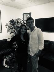 Andreas Schulz und Paula Salvatore in den Capitol Studios Los Angeles